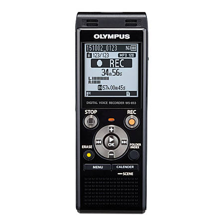 Olympus® WS-853 8GB Digital Voice Recorder, Black Item # 781979