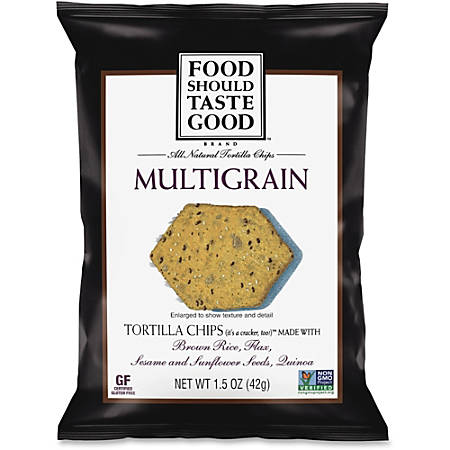 General Mills Multigrain Tortilla Chips - Fat-free, Non-GMO, Gluten-free - 1.50 oz - 24 / Carton