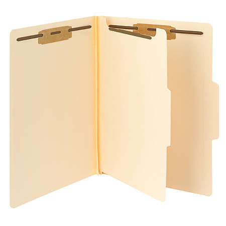 Smead® Fastener Folders With Dividers, Letter Size, Manila, Pack Of 10