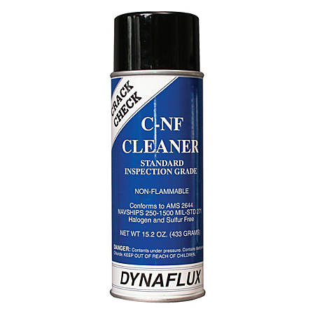 Visible Dye Penetrant Systems, Cleaner, Aerosol Can, 16 oz
