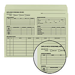 Smead Employee Record File Folder Letter