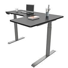 Loctek Height Adjustable Corner Desk With