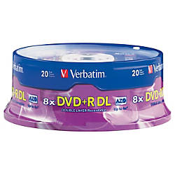 Verbatim DVDR DL 85GB 8X with