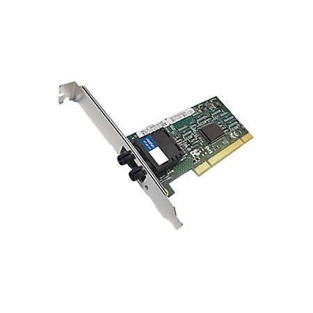 AddOn 100Mbs Single Open ST Port 2km MMF PCI Network Interface Card - 100% compatible and guaranteed to work