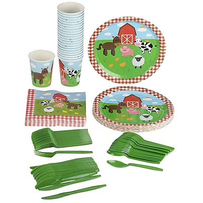 Farm Animals Party Supplies Serves 24 Includes Plates Knives Spoons Forks Cups And Napkins Perfect Barn Animal Party Pack For Kids Barnyard