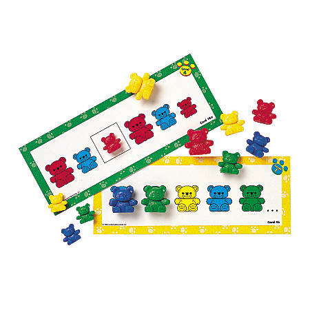 "Learning Resources® Three Bear Family® Pattern Cards, 11 1/2""H x 5 15/16""W x 7/16""D, Multicolor, Pre-K - Grade 3, Pack Of 16"
