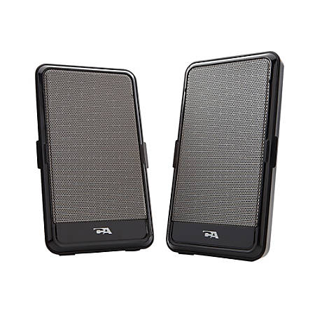Cyber Acoustics CA-2988 USB Portable 2-Piece Speaker System, black