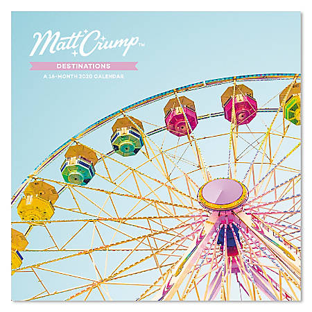 "Mead® Matt Crump Destinations Monthly Wall Calendar, 12"" x 12"", January to December 2020, ODW266-28"