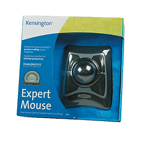 Kensington® Expert Mouse Wired Trackball, Black/Gray