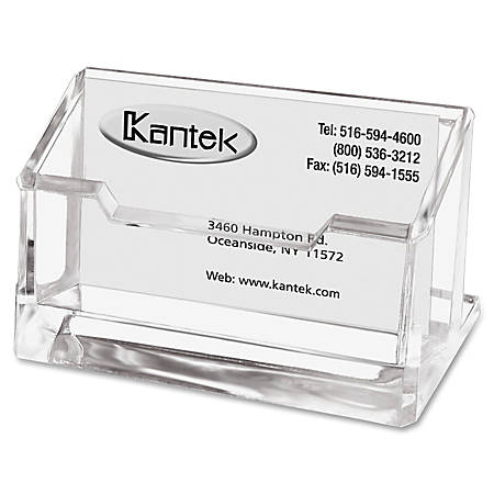 Kantek acrylic business card holder 2 x 2 38 x 4 14 clear by office kantek acrylic business card holder 2 colourmoves