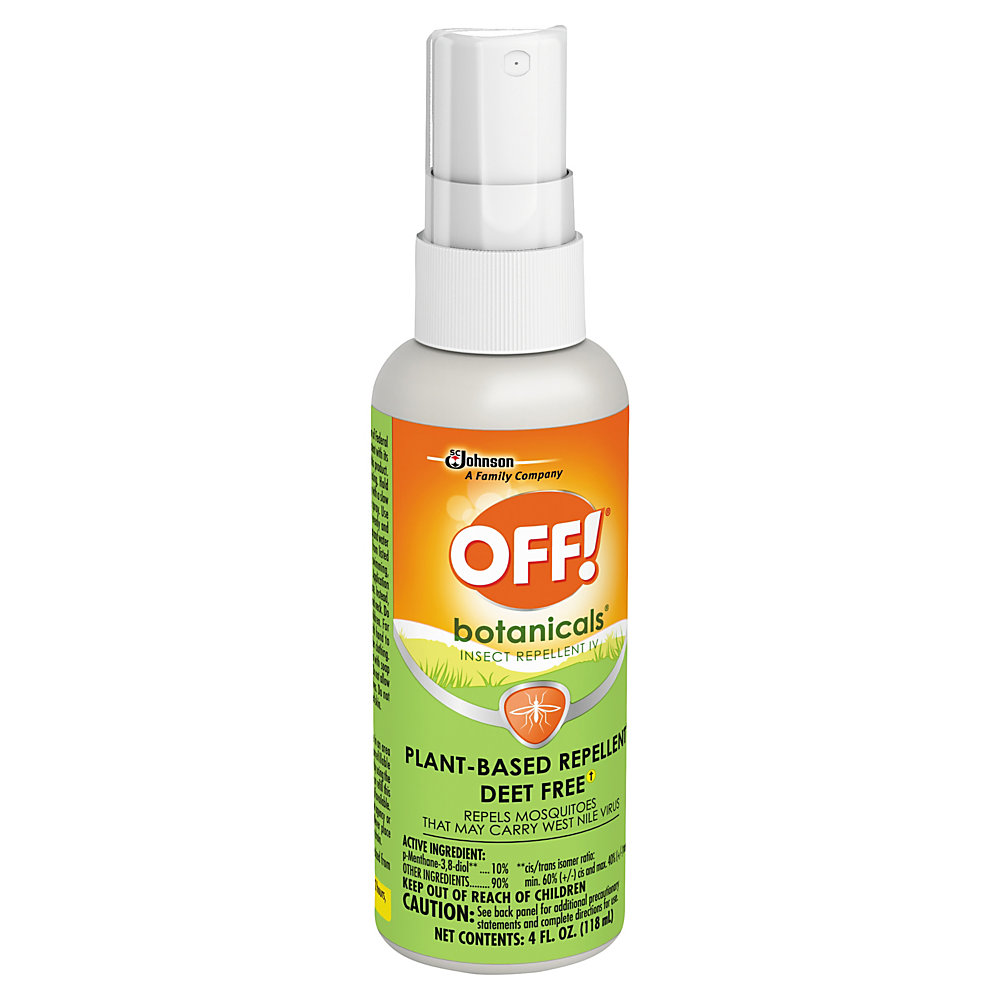 Head outside with OFF! Botanicals insect repellent by your side. The gentle formula is free of DEET and won't leave your skin feeling sticky or greasy, so you can enjoy the great outdoors in comfort.  Helps keep gnats and mosquitoes away.  Plant-based formula is DEET free.  Does not leave a sticky or greasy residue behind.