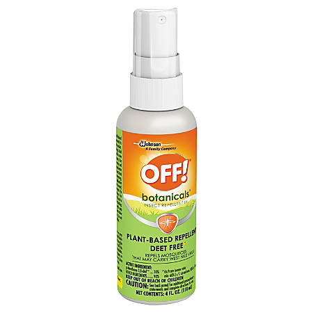 OFF! Botanicals Insect Repellent Spray, 4 Oz, Pack Of 8 Bottles