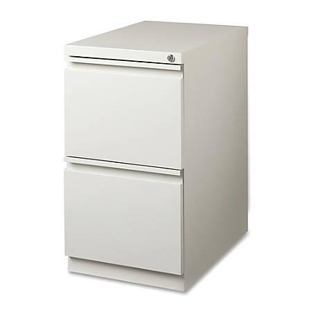 "Lorell® 19 7/8""D Mobile Letter-Size Pedestal File Cabinet, File/File, Light Gray"