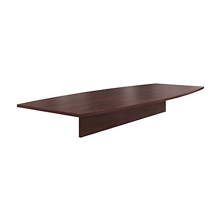 "HON® Preside™ Boat-Shaped Conference Table Top, 120""W, Mahogany"