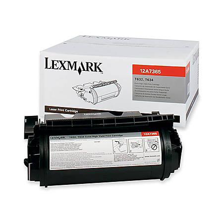 Lexmark™ 12A7365 High-Yield Black Toner Cartridge