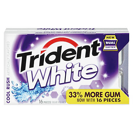 Trident® Cool Rush® White Sugarless Gum Dual-Tear Pack, 0.075 Oz