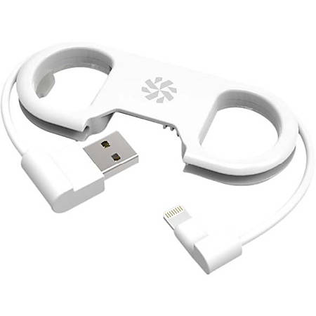 "Kanex GoBuddy+ Charge Sync Cable + Bottle Opener - 8.25"" Lightning/USB Data Transfer Cable for Smartphone, Tablet, MP3 Player, iPhone, iPod, iPad - First End: 1 x Type A Male USB - Second End: 1 x Lightning Male Proprietary Connector - MFI - White"