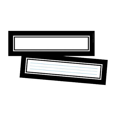 """Barker Creek Double-Sided Name Plates, 12"""" x 3 1/2"""", Frame It, Pack Of 72 Name Plates"""