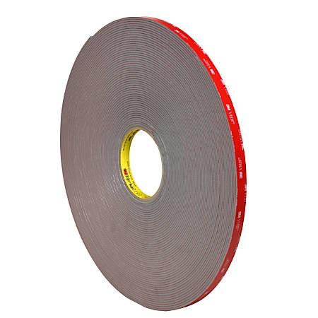 "3M™ VHB™ 4991 Tape, 1.5"" Core, 0.5"" x 5 Yd., Gray"