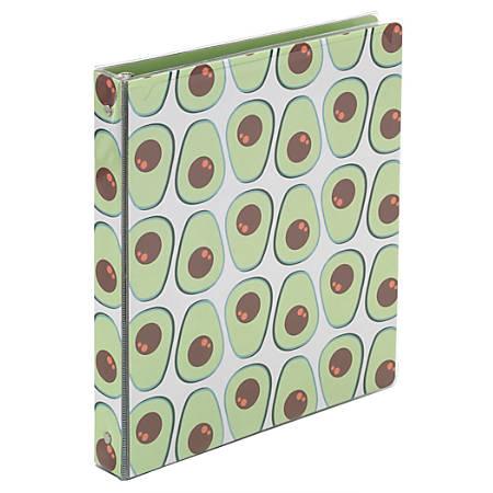 "Office Depot® Brand Fashion Binder, 1 1/2"" Rings, Avocado"
