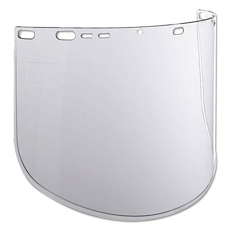 "Jackson Safety F40 915-60 Propionate Face Shield, 15 1/2"" x 9"", Clear"