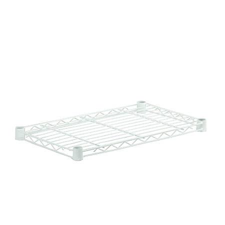 "Honey-Can-Do Powder-Coat Steel Shelf, 250-Lb Capacity, 1""H x 14""W x 36""D, White"