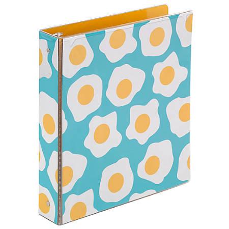 "Office Depot® Brand Fashion Binder, 1"" Rings, Egg"