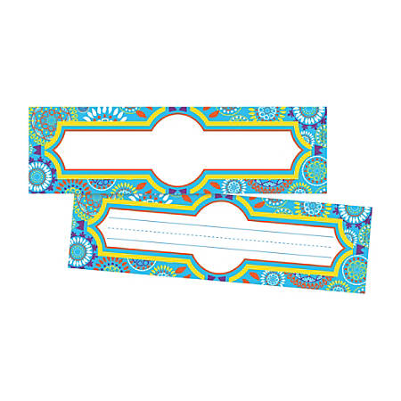 """Barker Creek Double-Sided Name Plates, 12"""" x 3 1/2"""", Moroccan, Pack Of 72 Name Plates"""