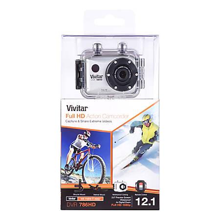 Vivitar® ActionCam 12.1 Megapixel HD Digital Camera, Silver