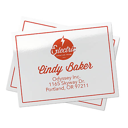 """Avery® Glossy Permanent Labels, 6528, Mailing, 2"""" x 4"""", White, Pack Of 250"""