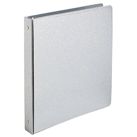 "Office Depot® Brand Fashion Binder, 1"" Rings, Glitter Silver"