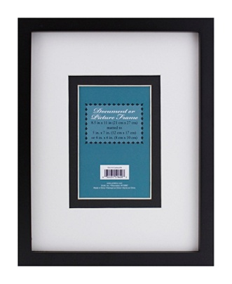 3 in 1 Wood Document And Photo Frame 8 12 x 11 Black by Office Depot ...