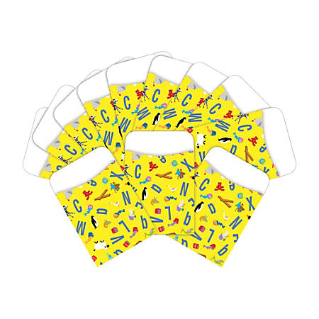 "Barker Creek Library Pockets, 3"" x 5 "", ABC Animal, Pack Of 60 Pockets"
