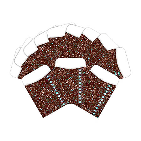 """Barker Creek Peel & Stick Library Pockets, 3"""" x 5"""", Hot to Dot, Pack Of 60 Pockets"""