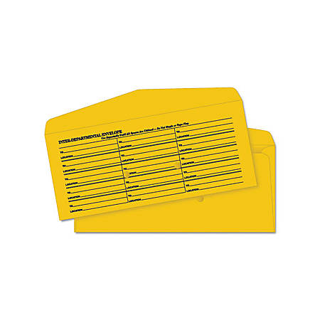 "Quality Park Preprinted Inter-department Envelopes - Multipurpose - 10 3/8"" Width x 4 1/2"" Length - Flap - Kraft - 500 / Box - Kraft"