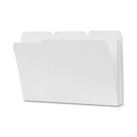 Smead® 1/3-Cut 2-Ply Color File Folders, Legal Size, White, Box Of 100