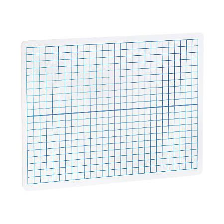 "Flipside XY Axis/Plain Dry-Erase Graph Boards, 9""H x 12""W x 1/8""D, White/Blue, Pack Of 12"