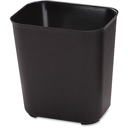 "Rubbermaid® Fire-Resistant Wastebasket, 7 Gallons, 15 1/2"" x 14 1/2"", Black"