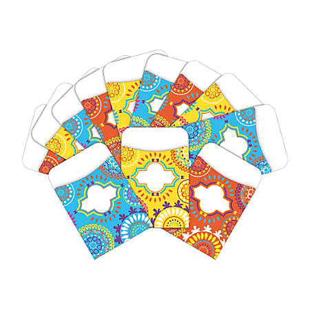 """Barker Creek Peel & Stick Library Pockets, 3"""" x 5"""", Moroccan, Pack Of 60 Pockets"""
