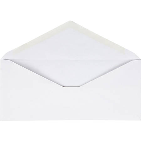 Business Source No. 10 V-Flap Envelopes - Business - #10 - 24 lb - Gummed Flap - Wove - 250 / Box - White