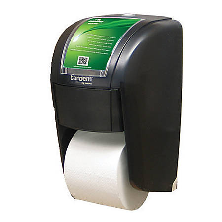 Cascades® Tandem® X2 Bathroom Tissue Dispenser, Smoke Gray