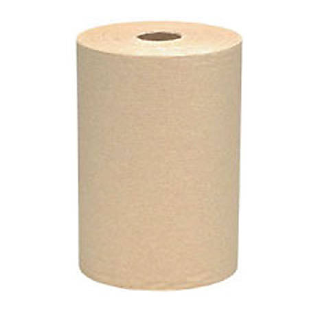 """Scott Hard Roll Towels, 100% Recycled, 1.5"""" Core, 8 x 400ft, Natural"""