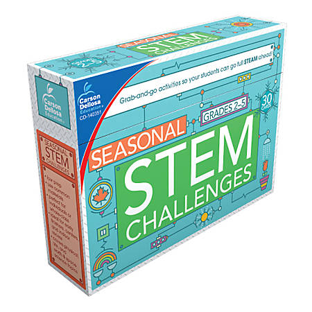 Carson-Dellosa STEM Challenges Learning Cards, Seasonal Themes, Grades 2-5