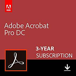 Adobe Acrobat Professional DC 3 Year