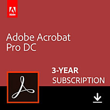 Adobe Acrobat Professional DC 3 Year