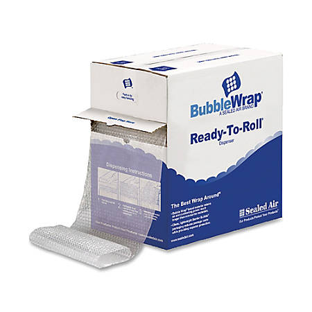 "Air Cellular Cushioning Material, 12 1/2""W, Small Bubble (3/16""), 100 Feet (Bonus Length)"