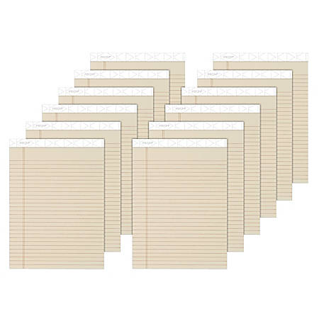 "TOPS™ Prism+™ Color Writing Pads, 8 1/2"" x 11 3/4"", Legal Ruled, 50 Sheets, Ivory, Pack Of 12 Pads"