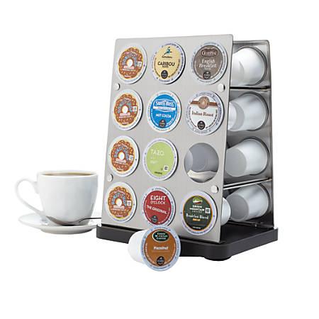 GNBI Stainless-Steel Coffee Pod Rack, Silver