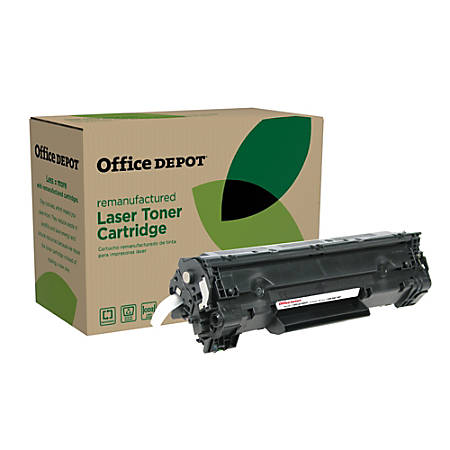 Office Depot® Brand OD61EHY Remanufactured Extended High-Yield Toner Cartridge Replacement For HP 35A Black
