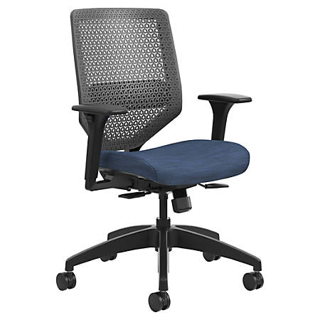 HON® Solve Fabric Mid-Back Task Chair, ReActiv Back, Midnight/Black